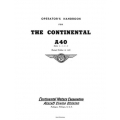 Continental A-40 Series 2-3-4-5 Operator's Manual Revised 1936 $12.95