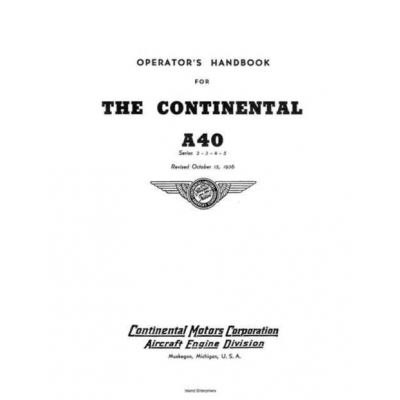 Continental a 40 series 2 3 4 5 operators manual revised 1936 1295 sciox Image collections