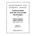 Continental Overhaul/Parts Manual A50, A65, A75 & A80 $13.95