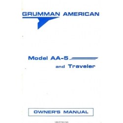 Grumman American Model AA-5 and Traveler Owner's Manual $9.95