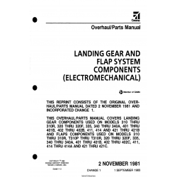 Cessna Landing Gear and Flap System Components (Electromechanical) Overhaul/Parts Manual D5266-1-13 $9.95