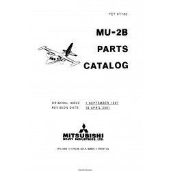Mitsubishi MU-2B SN 006-038 Parts Catalog YET67165