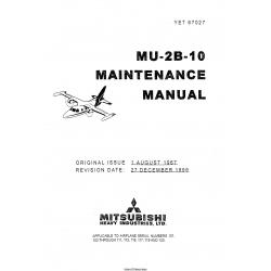 Mitsubishi MU-2B-10 Maintenance Manual YET67027