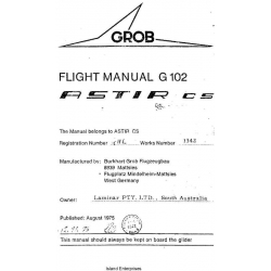 Astir CS Flight Manual G 102 POH $2.95