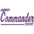 Aero Commander 560E Aircraft Logo,Script Vinyl Graphics Decal
