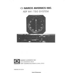 Narco ADF 841 TSO System Operation Manual $9.95