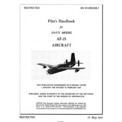 Grumman AF Guardian AF-2S Navy Aircraft Pilot's Handbook 1951 $9.95