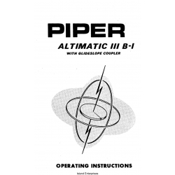 Piper Altimatic III B-1 OI 753 814 $13.95