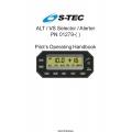 S-Tec ALT/VS Selector/ Alerter PN 01279 Pilot's Operating Handbook 2016 $13.95