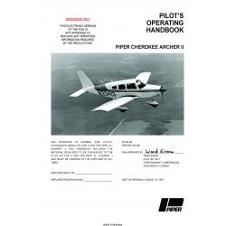 Piper Cherokee Archer II PA-28-181 Pilot's Operating Handbook $19.95