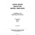 Dallas Avionics Audio Mode Selector AMS-6000 Installation and Operating Instructions 2007 $9.95