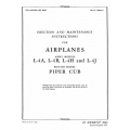 Piper Cub L-4A-B-H-J & Erection & Maintenance Instructions $5.95
