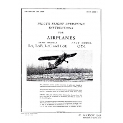 Stinson L-5, L-5B, L-5C, L-5E & OY-1 Pilot's Flight Operation Instructions $2.95