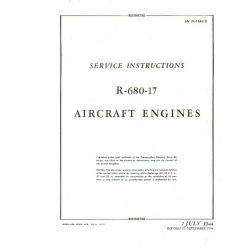 Service Instructions for R-680-17 (Lycoming) Aircraft Engines  Revised   September 20, 1944  $11.95
