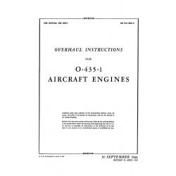 Lycoming Overhaul Instructions AN 02-15BA-3 O-435-1