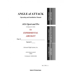 AOA Sport and Pro Angle of Attack Operating and Installation Manual 2002 - 2004