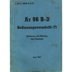 Arado AR 96 B-3 Bedienungsvorschrift-F1
