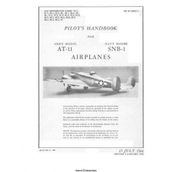 Beech AT-11 Kansan & SNB-1 Airplanes Pilot's Handbook 1944 - 1946 $5.95