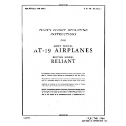 Stinson AT-19 Reliant Pilot's Flight Operating Instructions $2.95