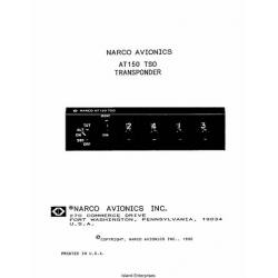 Narco AT150 TSO Transponder Operation Manual 1990