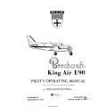 Beechcraft King Air E90 Pilot's Operating Manual 90-590012-5A5 $19.95
