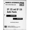 Narco CP-125-126 CP 125 126 Audio Panels Maintenance Manual  03718-0600 $29.95