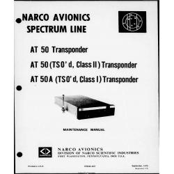 Narco AT-50 AT-50A  AT 50 AT 50A Transponder Maintenance Manual 03604-602