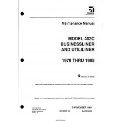 Cessna Model 402C (1979 THRU 1985) Maintenance Manual D2527-10-13
