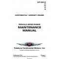 Continental Model IOF-550-B-C-N-P-R Permold Series Engine Maintenance Manual M-24 $29.95