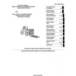 Adverse Terrain M544E TM 10-3930-659-34 Forklift Maintenance Manual 1993 $9.95