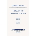 Aero Commander 600 S-2D Agricultural Airplane Owners Manual $5.95