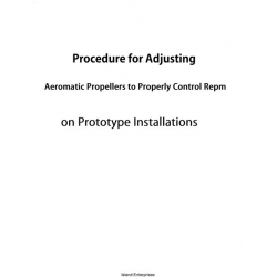 Aeromatic Propellers to Properly Control Repm Procedure for Adjusting $4.95