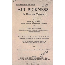 Air Sickness Its Nature and Treatment $4.95