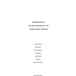 Air Tractor AT-301 Agricultural Airplane Owners Manual $5.95