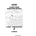 Airbus A340 Flight Crew Operating Manual Flight Preparation Volume 2 $13.95