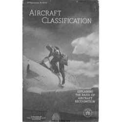 Aircraft Classification Manual Explaining The Basis of Aircraft Recognition $4.95