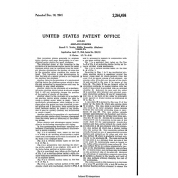 Airplane Starter Patent 2,266,098 Invention Manual 1940 - 1941