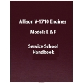 Allison V-1710 Engines Models E & F Service School Handbook $5.95