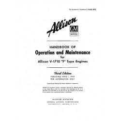 Allison V-1710 Handbook of Operation & Maintenance