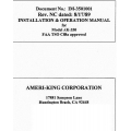 Ameri-King AK-350 Installation and Operation Manual 1989 $4.95