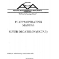 American Champion Super Decathtlon 8KCAB Pilot's Operating Manual