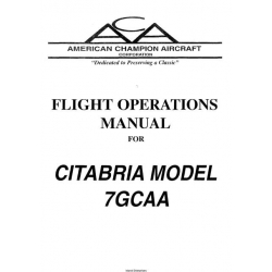 American Champion Citabria Model 7GCAA Flight Operations Manual $9.95