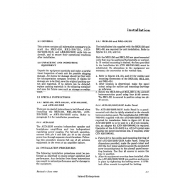 Collins Amr 350, Aud 251 & Mkr 351 Installation Manual 1982