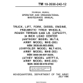 Anthony MLT-6 MHE-200, Chrysler MLT-6CH Army MHE-202, Athey ARTFT-6 MHE-222 TM 10-3930-242-12 Maintenance Manual 1980 $9.95