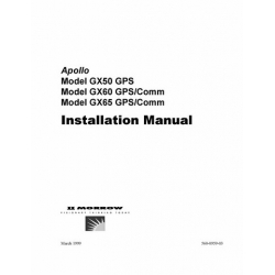 Apollo GX50 GPS, GX60GPS/Comm & GX65 GPS/Comm Installation Manual (1999) 560-0959-03 $9.95