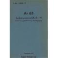 Arado Ar 65 Bedienungsvorschrift - FI $4.95