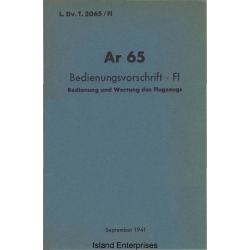 Arado Ar 65 Bedienungsvorschrift - FI