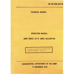 Army AH-1S (Mod) Helicopter TM 55-1520-234-10 Operators Manual 1976 $13.95