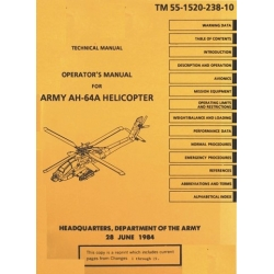 Boeing Apache AH-64A Helicopter TM 55-1520-238-10 Operator's Manual 1984
