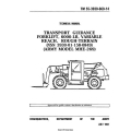 Army Model MHE-269, Rough Terrain Forklift TM 55-3930-660-14 Technical Manual 1991 $5.95